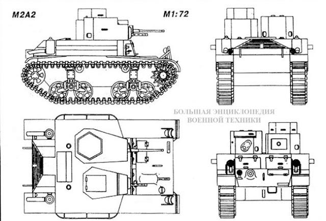 Общий вид легкого американского танка Light Tank M2