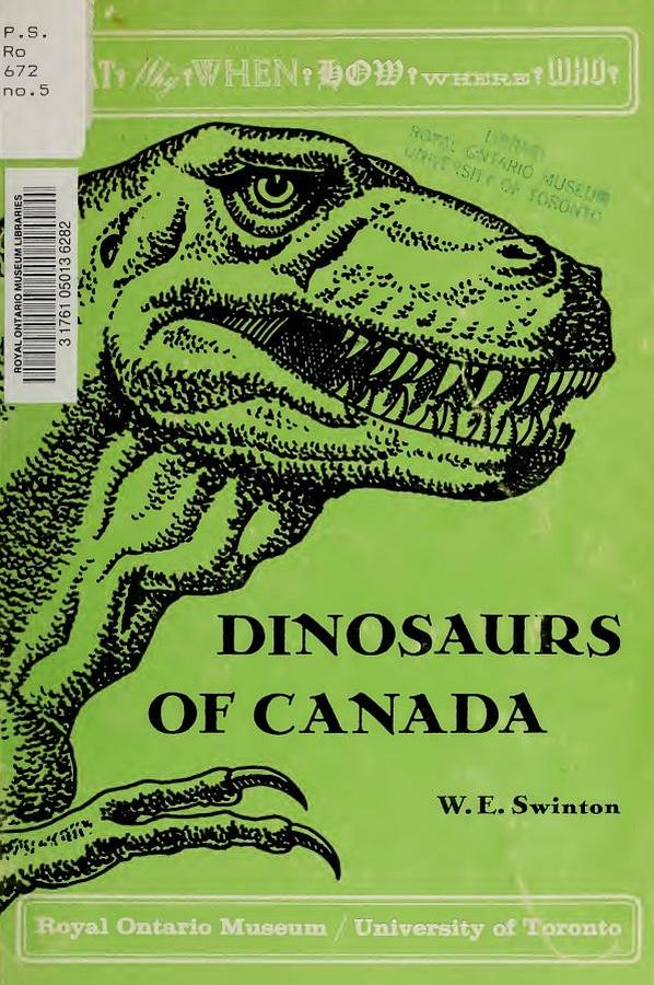 Vintage Dinosaur Art: Dinosaurs of Canada