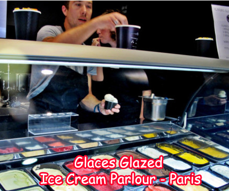 Glaces Glazed Ice Cream Parlor in Paris