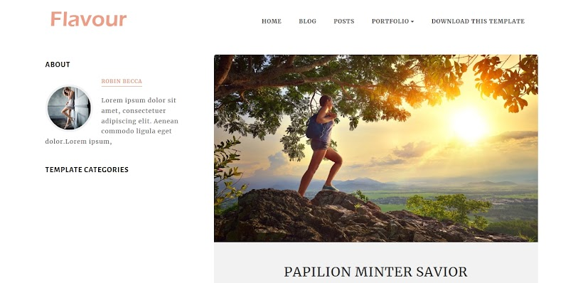 Flavour Free Blogger Template