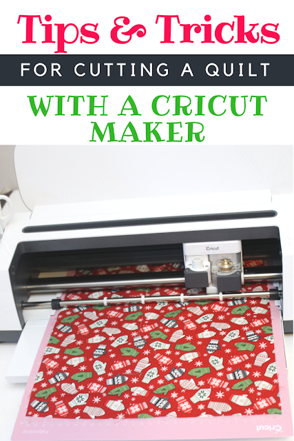 Step by step process to cutting out fabric for a Riley Blake quilt using the Cricut Maker and other Cricut sewing tools. #ad #MyCricutQuilt #CricutMade #RileyBlakeDesigns