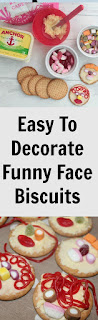 simple holiday activity making funny face biscuits
