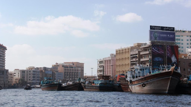 Fishing boats in Deira Creek