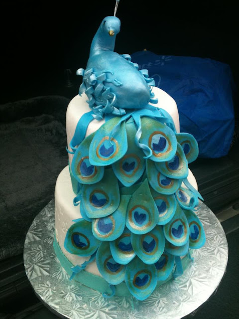 My Life In A Cupcake Quot Peacock Cake Quot For Mom S 60th Birthday