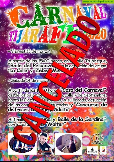 Tijarafe cancela los actos del carnaval previstos para el fin de semana en prevención ante el coronavirus