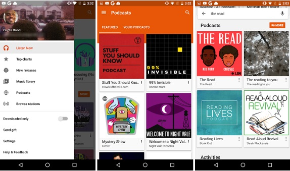 Now Podcasts Are Available In Google Play Music