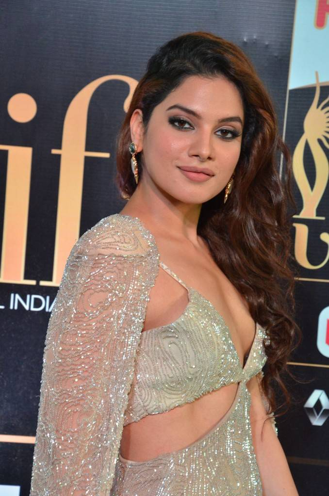 Tollywood Actress Tanya Hope At IIFA Awards 2017 In White Dress