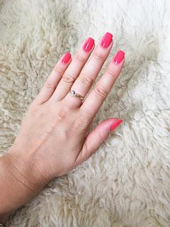 manicure, lakier hybrydowy, hybrydy, semilac, classic coral, 900, nails,