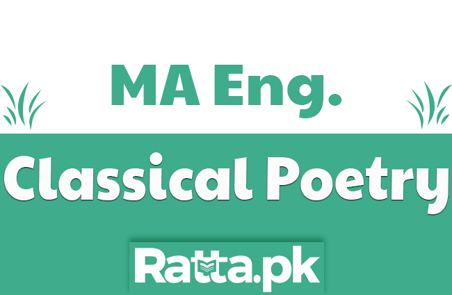 MA English Classical Poetry Past Paper 2019