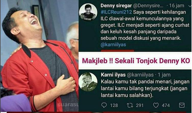 Malangnya si Denny Siregar, Kalah Argumen Salahkan ILC, Jawaban Telak Karni Ilyas Bikin Mati Kutu