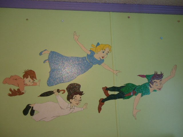 This Picture Is A Painting I Did In The Kids Play Room Of Peter Pan, Wendy,  John And Micheal. Part 53