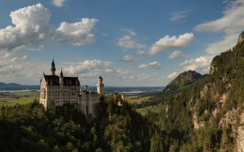 Wallpaper: Panoramic view of Neuschwanstein castle