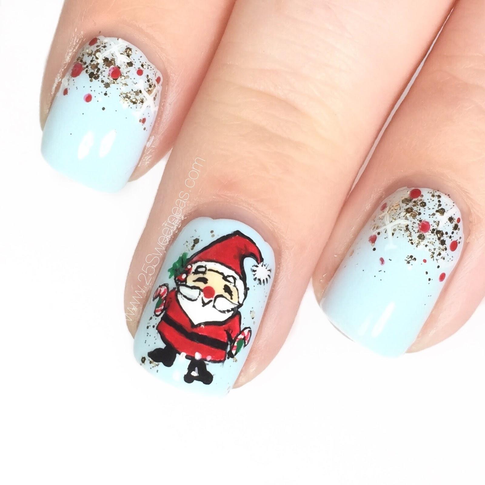 Santa Nail Art