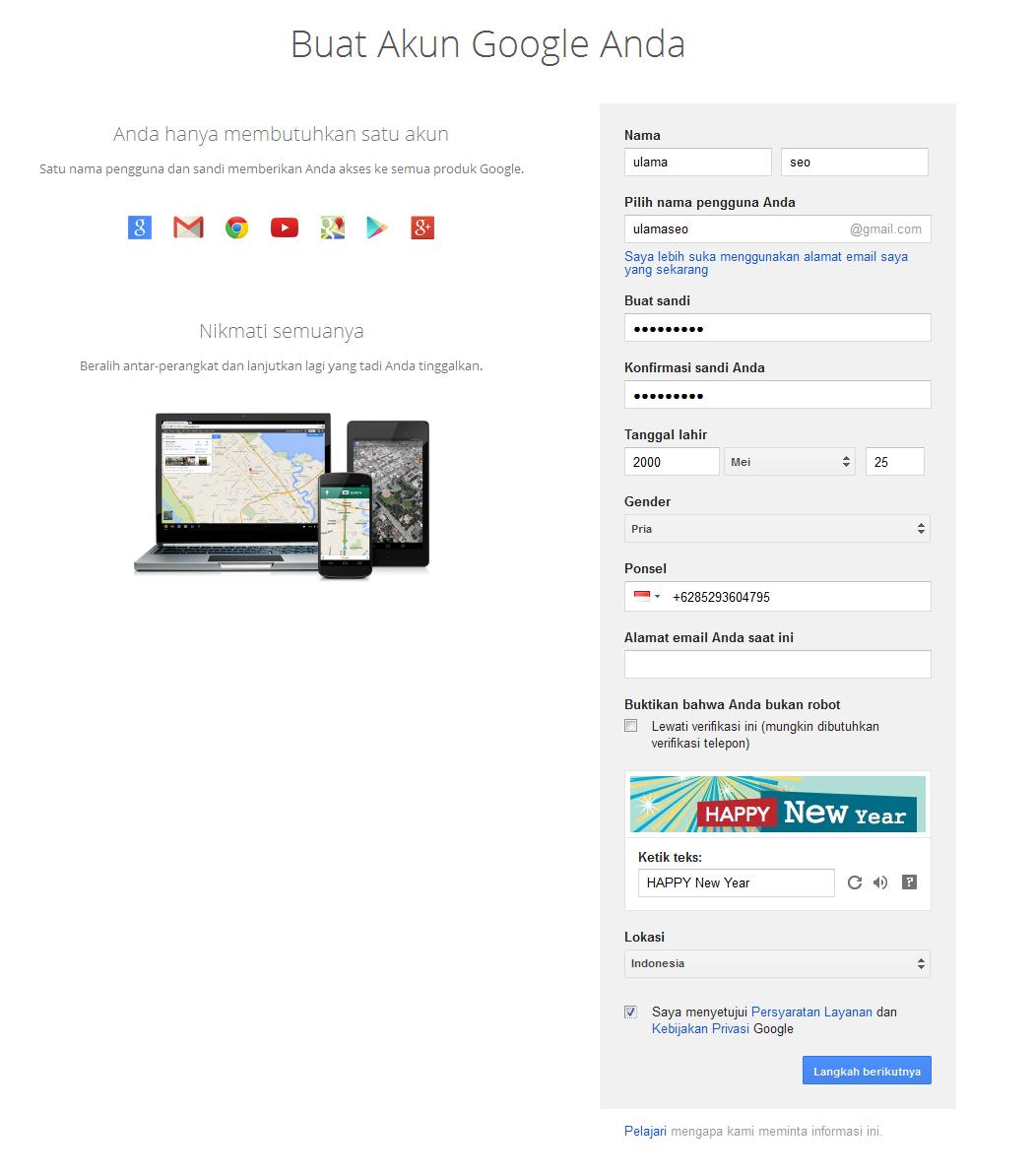 cara bikin email digoogle