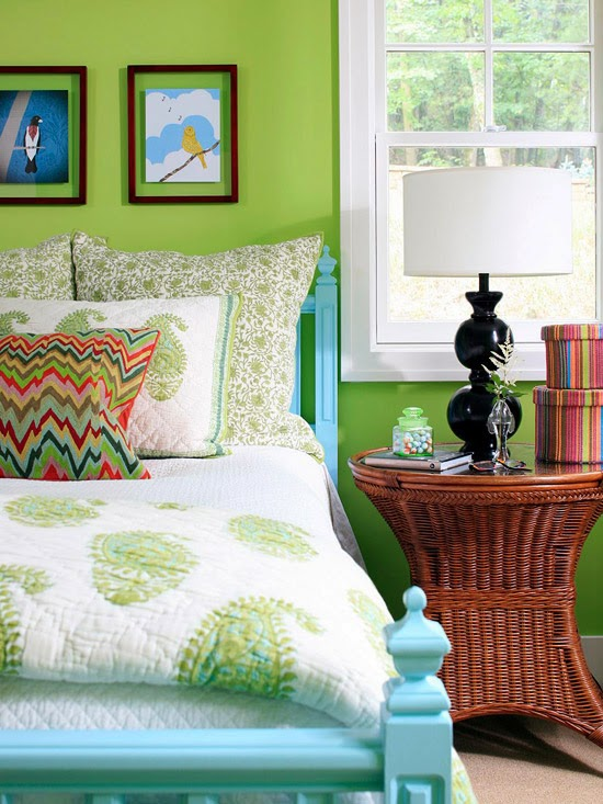 appealing blue green bedroom decor | Modern Furniture: 2014 Casual Bedrooms Decorating Ideas