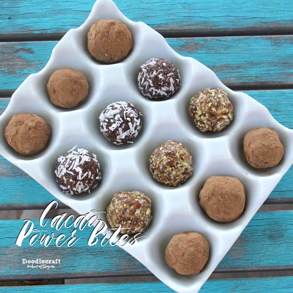 Dates Nuts Seeds Coconut Vegan chocolate truffles dairy free