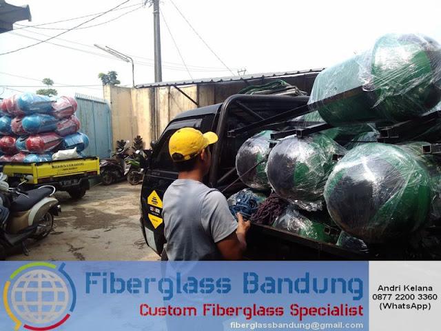pengiriman tempat sampah fiber