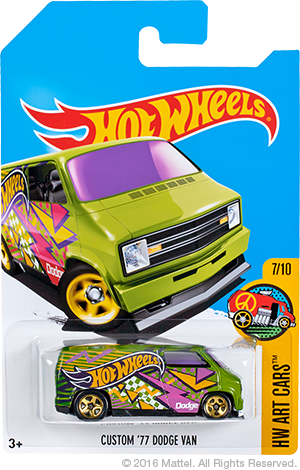 HW Custom 77 Dodge Van Special Colors Kmart Edition