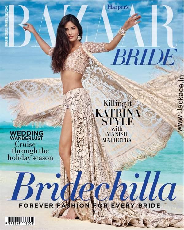 Hot & Sexy Katrina Kaif On The Latest Cover Of Harper's Bazaar Bride