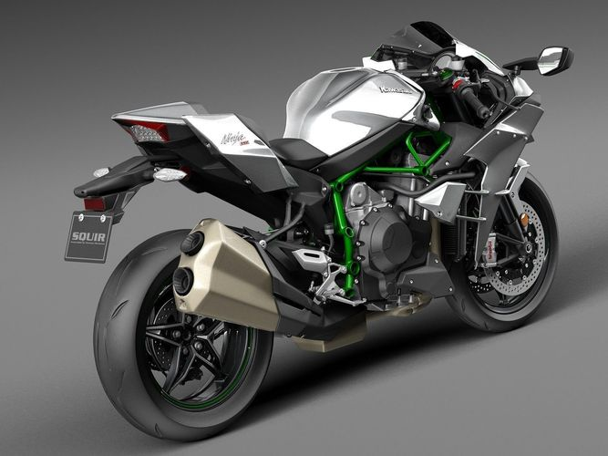 Kawasaki Ninja H2R Right Side Rear Look Image