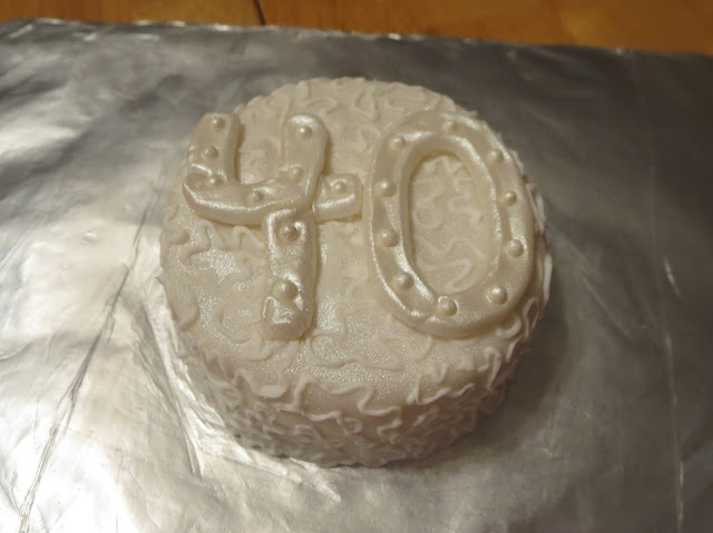 40th Anniversary Mini Cake 1