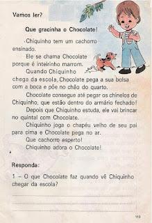 Leitura Que gracinha o Chocolate