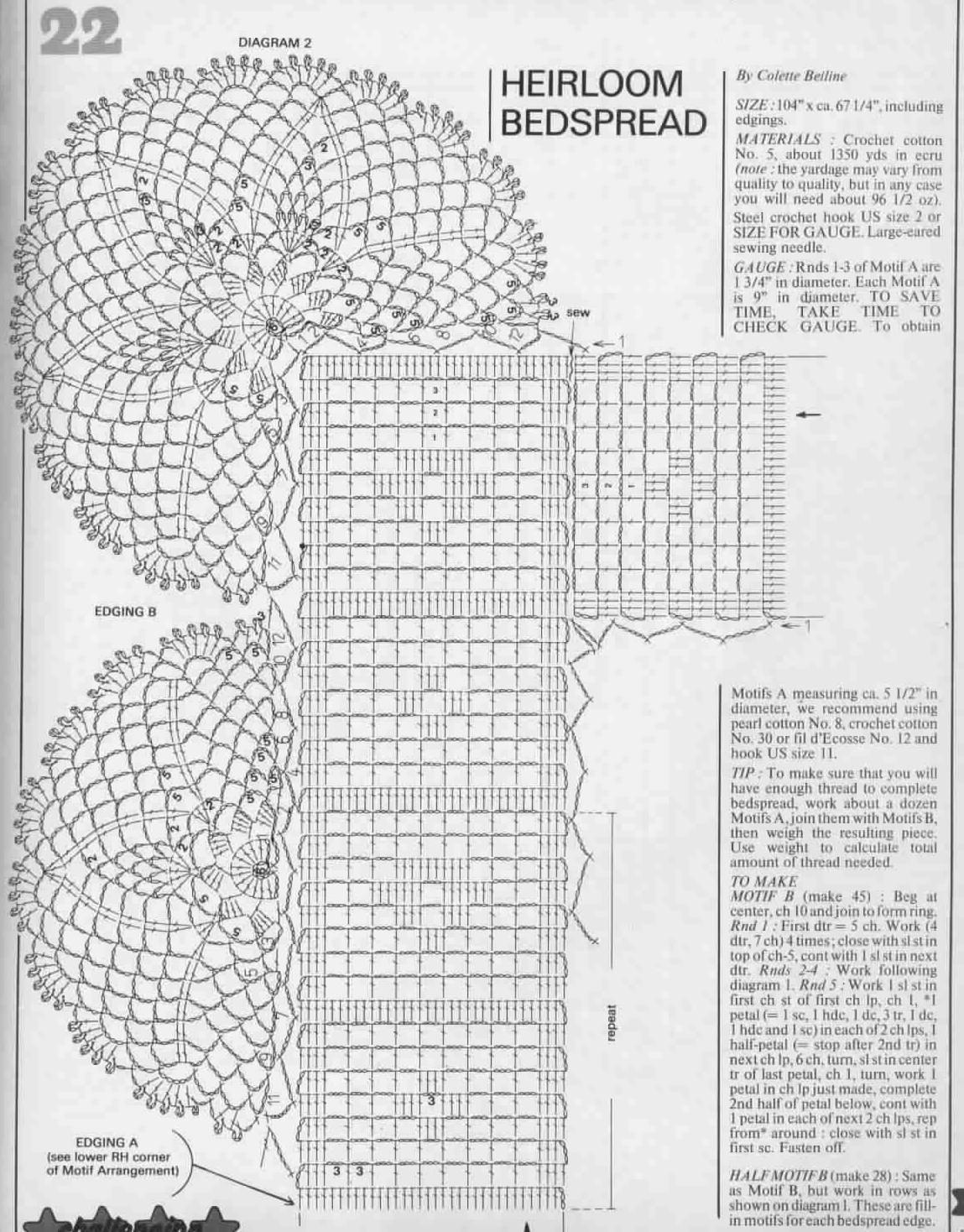 Free crochet patterns to download crochet bedspread bankloansurffo Images