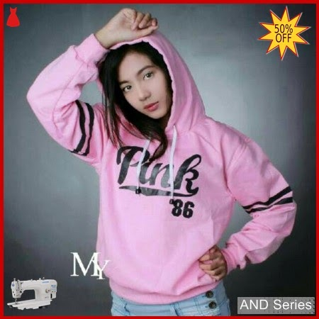 AND348 Sweater Wanita Pink 86 Hoodie BMGShop
