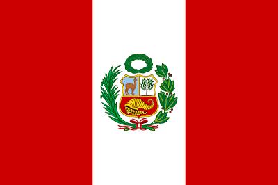 Dibujo de la bandera del Perú o bandera peruana