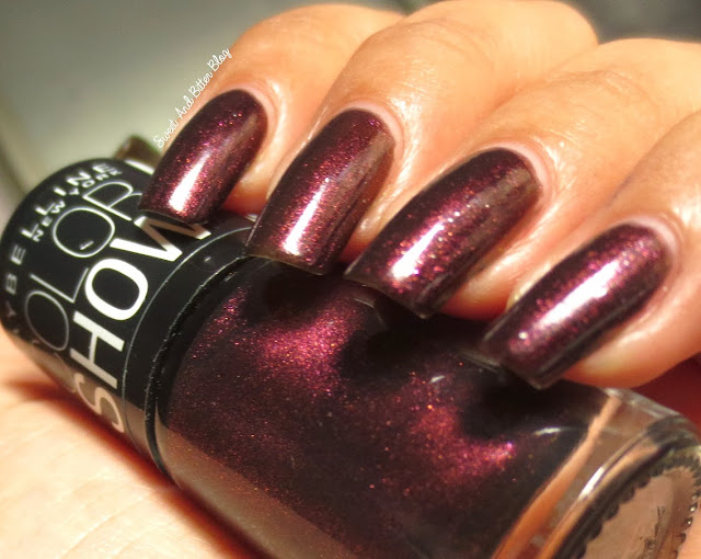 Maybelline Color Show Wine & Dine Nail Paint Swatch