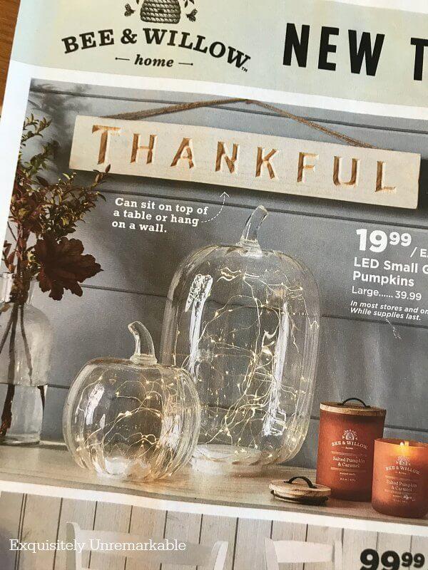 Trendy light filled glass pumpkins