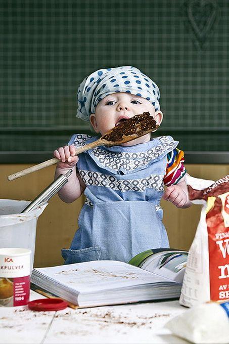 foto de estudio de bebé tierno