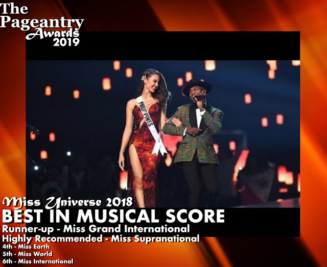 Pageantry Awards 2019 Miss Universe Wins Best In Opening Number
