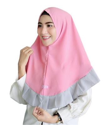 gambar model hijab rempel terbaru