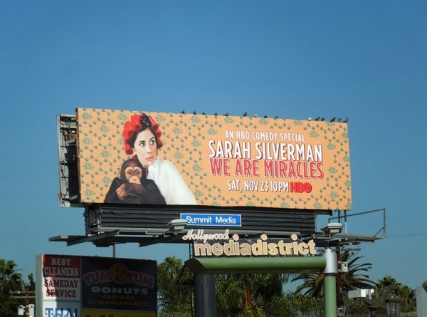 Sarah Silverman We Are Miracles HBO comedy special billboard