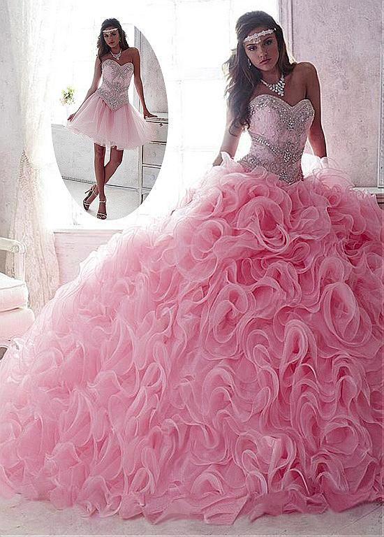 Vestidos de 15 años rosado
