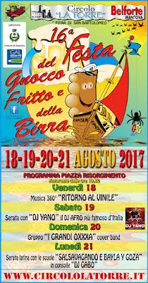 Festa del Gnocco Fritto e della Birra 18-19-20-21 agosto Belforte (MN)