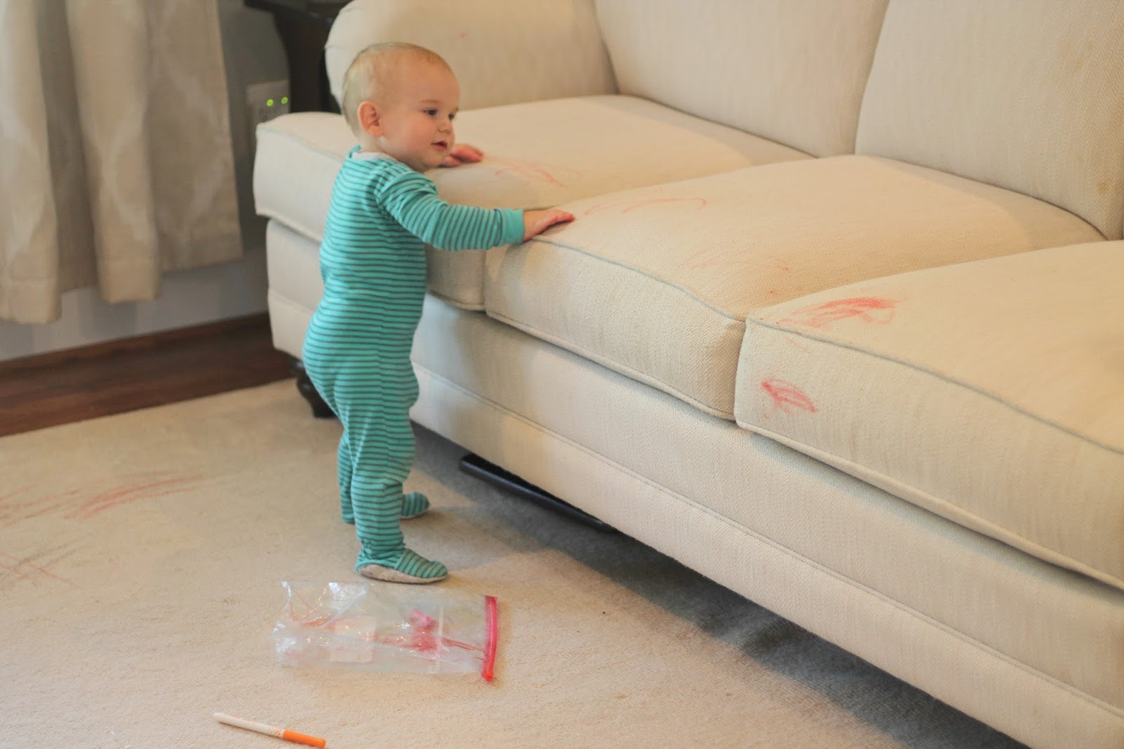 One Afternoon While Caroline Was Left Unattended With Markers Just Long  Enough For Me To Pee She Decided To Draw All Over The Carpet And Couch