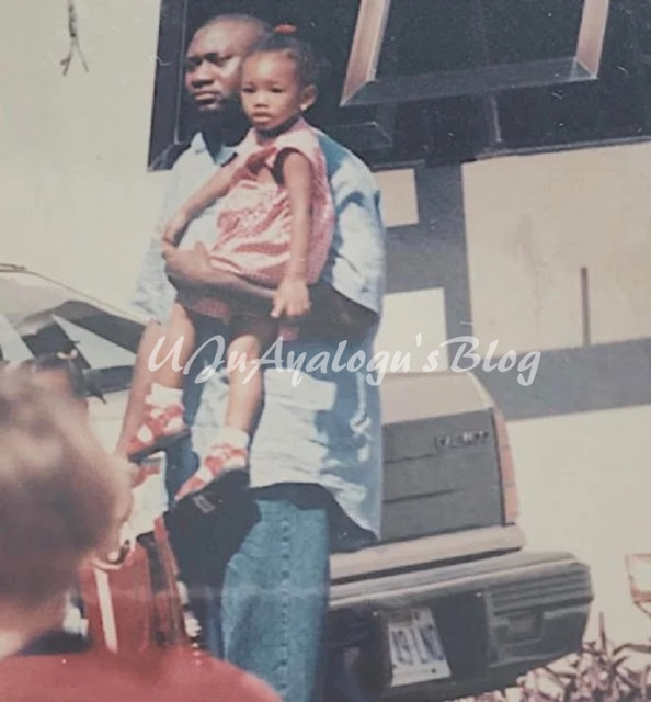 See photo of Femi Otedola in his hustling days taking daughter to school (photo)
