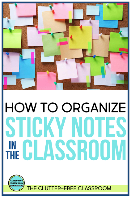 Are sticky notes everywhere in your classroom and meetings? Get back to being an organized teacher by following these simple solutions and ideas found in this blog post.