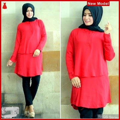 FHGS9015 Model Blouse Anisa Merah, Rayon Blouse Perempuan Bangkok BMG