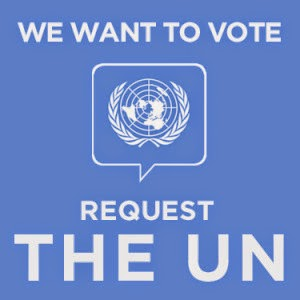 We want to vote - Request the UN