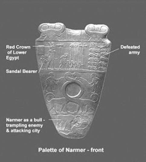 Kenney Mencher: Palette Of Narmer 3100 BCE Hierakonpolis