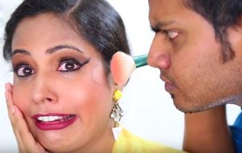Cousin Does My Makeup | Makeup Challenge