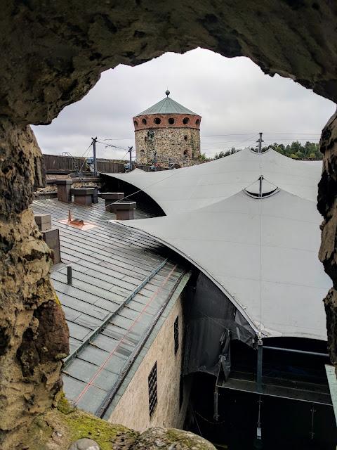 Finland roadtrip itinerary: Savonlinna Opera Festival stage at Olavinlinna Castle