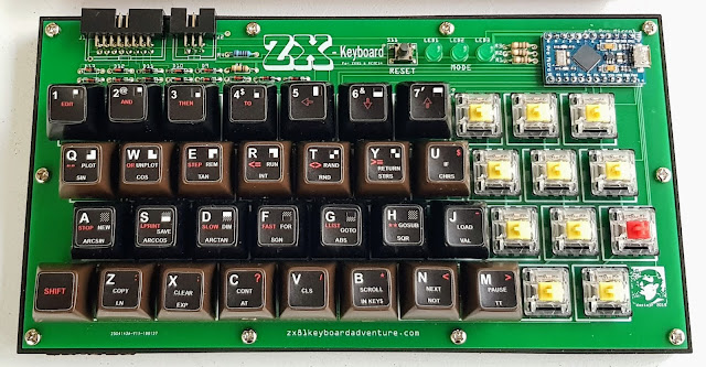 Final prototype ZX-Key ZX81 Keyboard