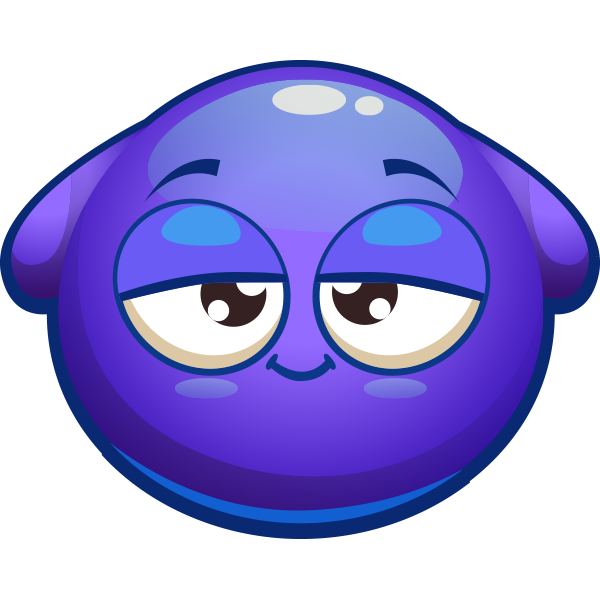 Drowsy Blue Smiley
