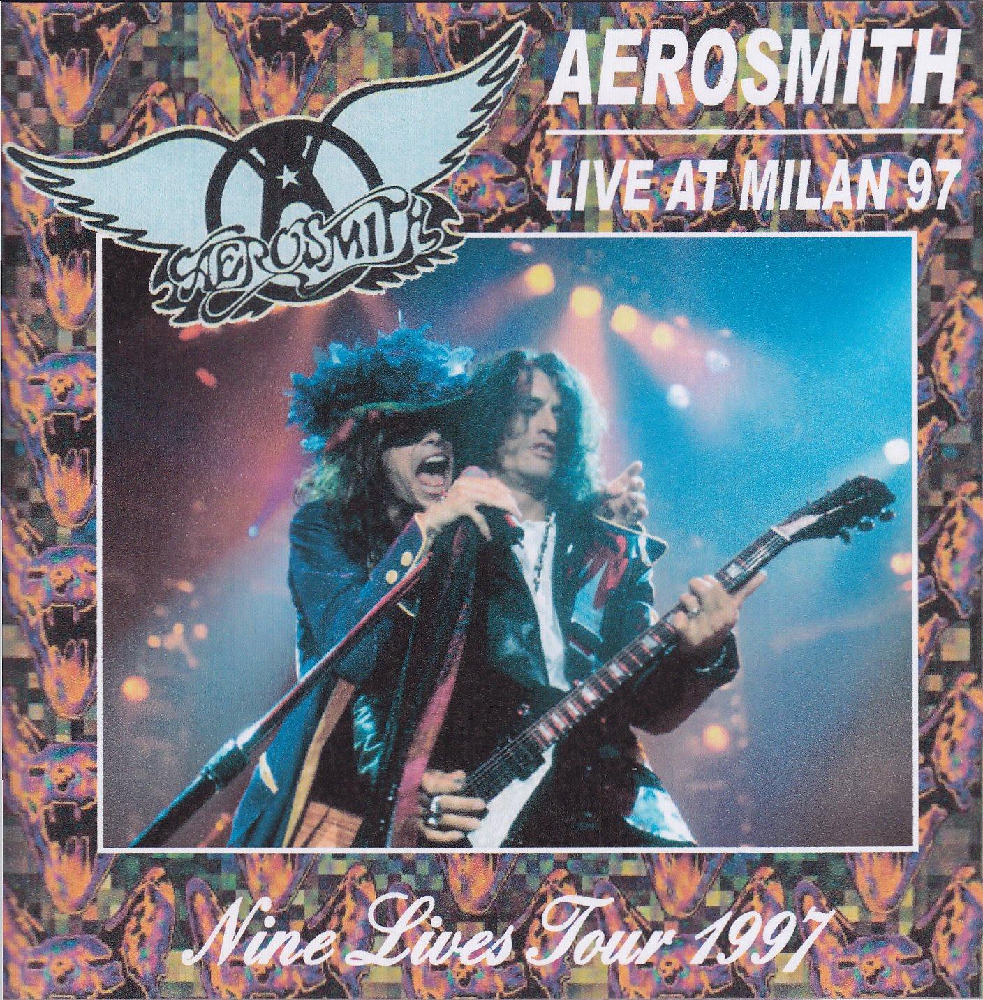 Aerosmith Bootlegs Cover Arts Live At Milan 97