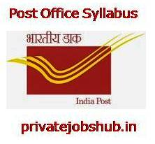 Post Office Syllabus