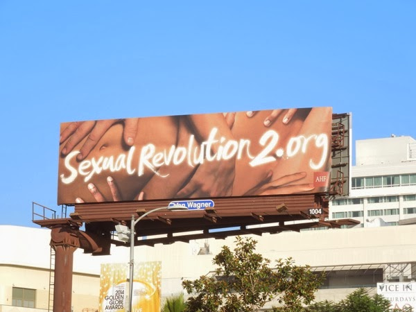 Sexual Revolution 2 AHF billboard